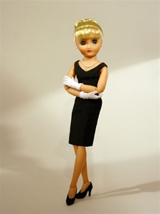 Basic Black Dress Only (Excludes Doll, Necklace, Shoes and Gloves) Limited Quantity Available