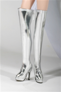 Tall Silver Boots