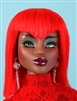 Red Wig - Zhonti Mid Night (Doll not included)