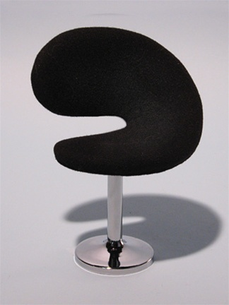 "Dining Chair - Black (Perfectly scaled for Vita and most 16"" Fashion Dolls) ."