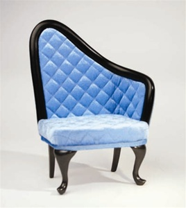 "French Chair - Blue - Left Oriented (Perfectly scaled for Vita and most 16"" Fashion Dolls)"