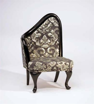 "French Chair - Sage Green Brocade - Right Oriented (Perfectly scaled for Vita and most 16"" Fashion Dolls)"