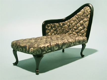 "French Chaise - Sage - (Perfectly scaled for Vita and most 16"" Fashion Dolls)"