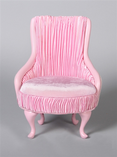 "PRINCESS CHAIR- PINK (Perfectly scaled for Vita and most 16"" Fashion Dolls)"