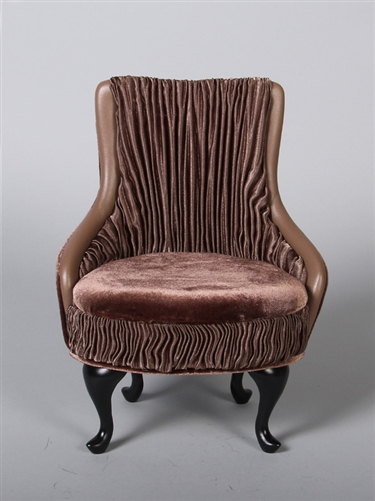 "PRINCESS CHAIR- MOCHA (Perfectly scaled for Vita and most 16"" Fashion Dolls)"