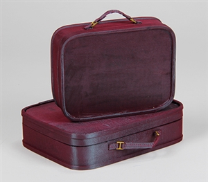 150th ANNIVERSARY CLASSIC LUGGAGE SET - BURGUNDY