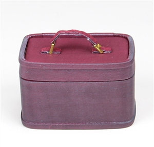 RETRO TRAIN CASE  - BURGUNDY