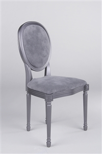 Louis XVI Style Chair - Pewter Delight