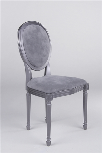 Louis XVI Style Chair - Pewter