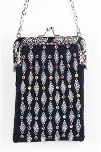 CRYSTALETTS BEADED PURSE KIT 56324 - SILVER TONE