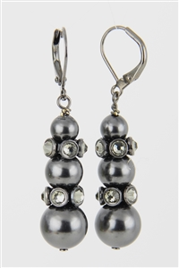 PASTEL & RONDELLES EARRING KIT - BLACK PEARL / BLK DIAMOND #56351