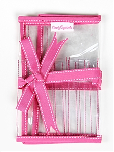 CLEARLY ORGANIZED CASE FOR DOUBLE POINT NEEDLES - 56500 PINK