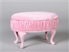 "PRINCESS OTTOMAN- PINK (Perfectly scaled for Vita and most 16"" Fashion Dolls)"
